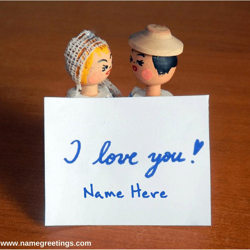 Write Name On I Love You Handwritten Photo